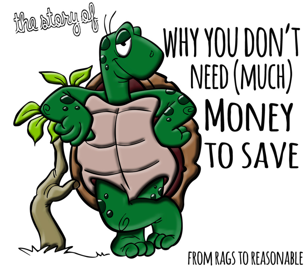Don't need much money to save - From Rags to Reasonable