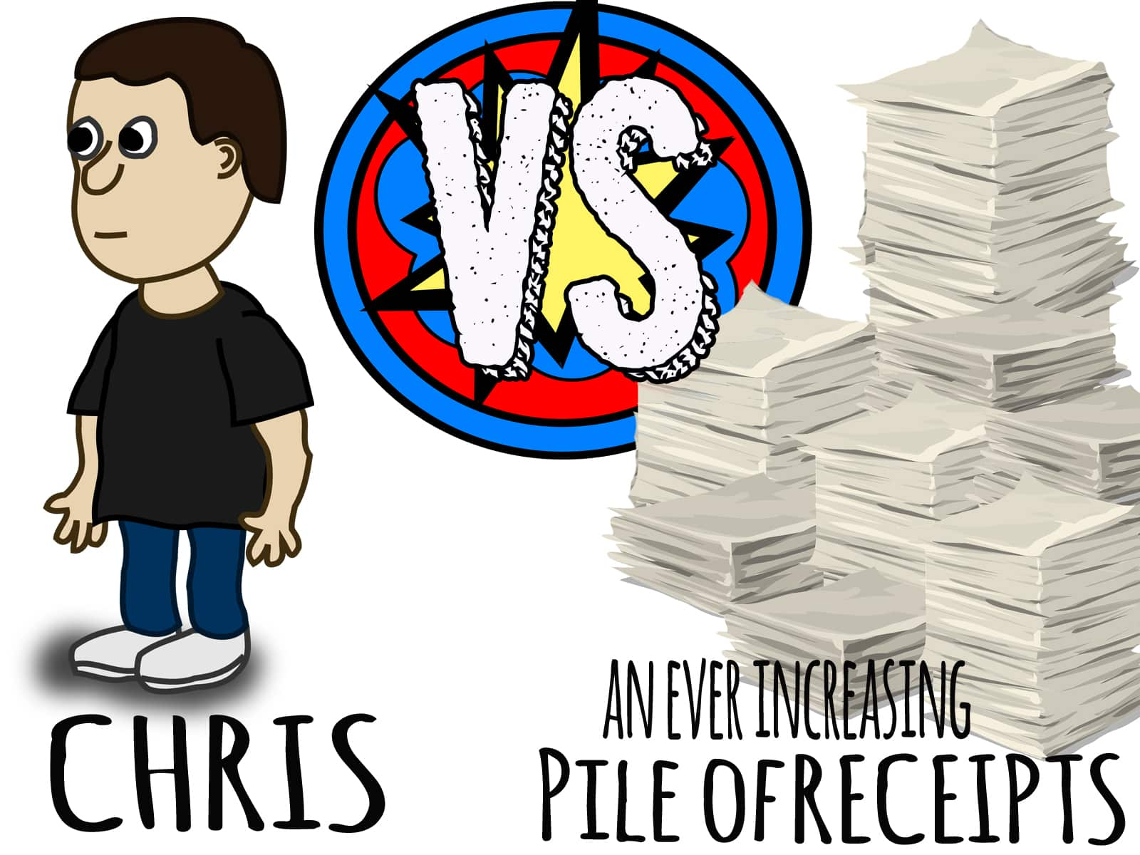 Chris VS an increasingly large pile of receipts - From Rags to Reasonable