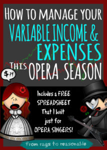 Variable Income Opera Singers - From Rags to Reasonable