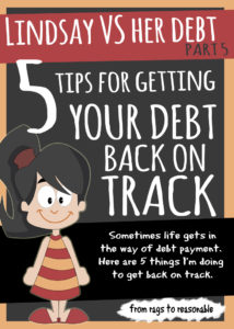 5 tips for getting your debt back on track - From Rags to Reasonable
