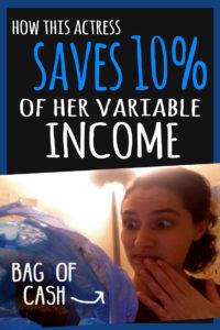 Actress saves 10%